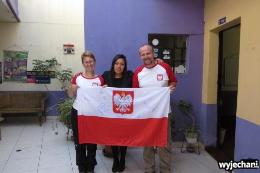 Rocio - uczniowie z Polski wraz z Dessy (Luz robi zdjęcie i nie chce występować na żadnych fotkach)
