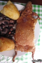 świnka morska, pyszne, chudziutkie mięsko, lokalny przysmak