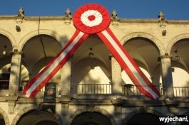 Plaza de Armas - przygotowania do obchodów święta narodowego Peru