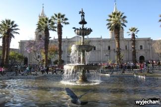 Plaza de Armas - codziennie coś się zmieniało, dziś włączyli fontannę