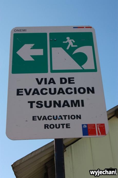 04 Chiloe - kierunek biegania w przypadku tsunami