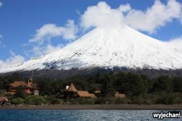 07 Ensenada okolice - wulkan Osorno z jeziora Lago Todos Los Santos