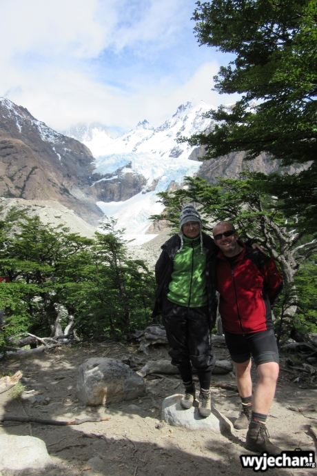 01 Laguna de Los Tres - w drodze - Glaciar Piedras Blancas