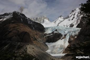 02 Laguna de Los Tres - w drodze - Glaciar Piedras Blancas