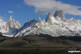 06 El Chalten - droga dojazdowa - widok na Fitz Roya i Cerro Torre