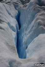 08 Perito Moreno - spacer - szczeliny lodowcowe