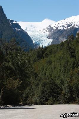43 Carretera Austral, cz5 - lodowiec w parku Queulat - widok z Carretera Austral