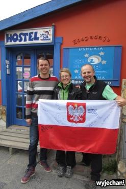 05 Ushuaia - z Michalem przed hostelem