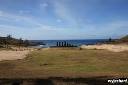 22 Wyspa Wielkanocna - Anakena i Ahu Nau Nau