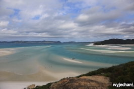 04 Whitsunday Islands NP - widok na Whitehaven Beach z Hill Inlet